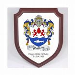 Family Crest Coat of Arms Shield Plaque PERSONALISED, ref FCSP